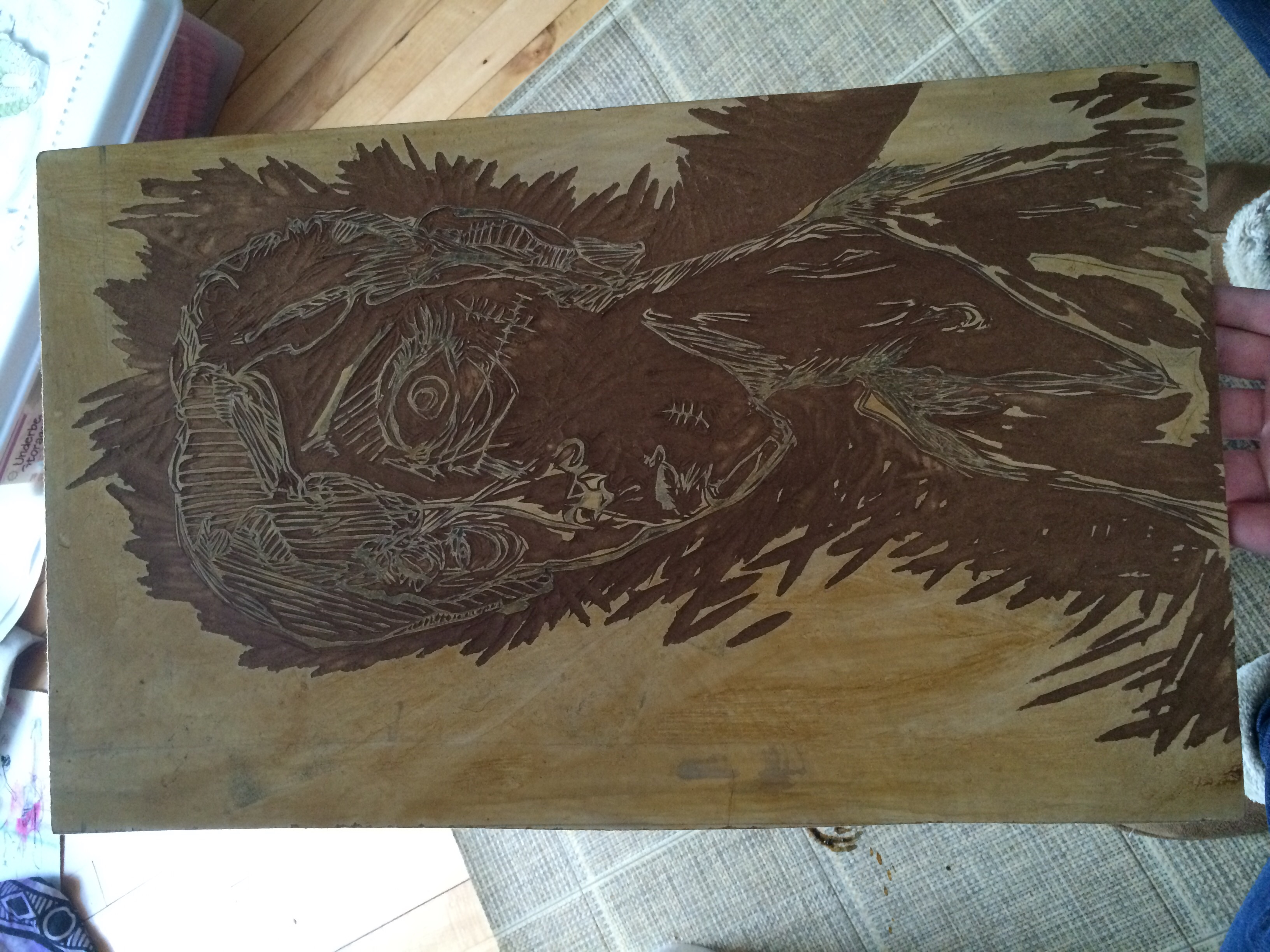 Waiting for the sealant on the block to dry - will be ready for inking tomorrow!