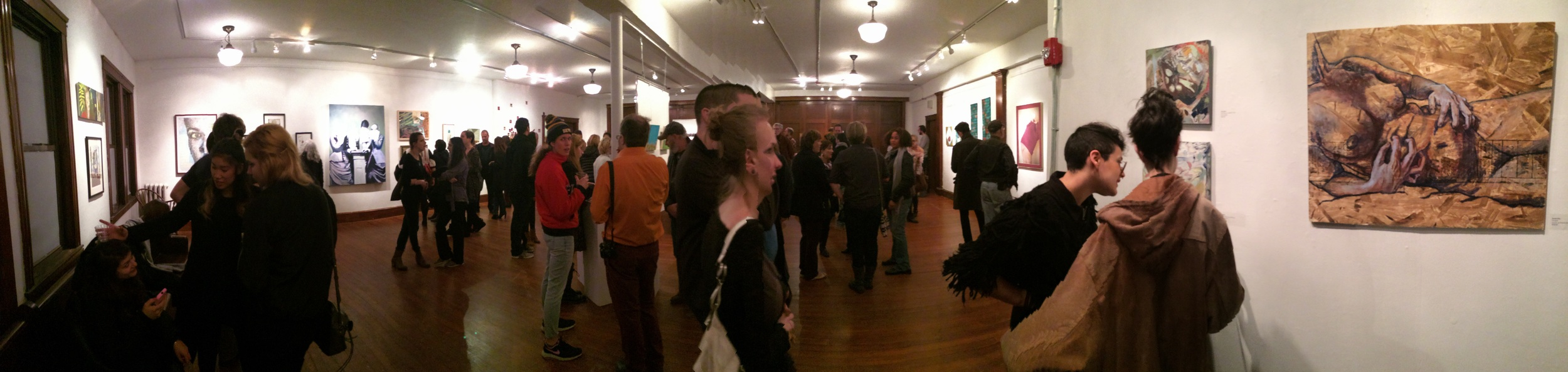 A panorama from last night's opening