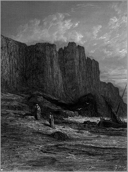 """""""Farewell, my one true love.""""  Illustration  by Gustave Doré, from Tennyson ' s  Idylls of the King ,1868."""