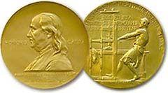 Daniel Chester French (1850-1931)  designed the gold medallion in 1917.