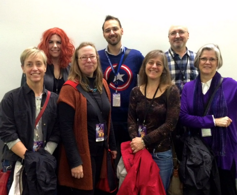 Unbound Writers Lisa Mahoney, CS Peterson, CH Lips and Theodore McCombs attend Denver's 2015 Comic Con with Comic-Com-patriots, William Haywood Henderson, Nancy Graham and Jennifer Siebert.  Photo: William Haywood Henderson  © 2015
