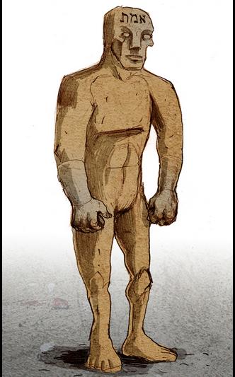 Golem by illustrator Philippe Semeri