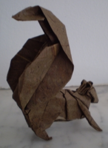 Squirrel, modified from  Michael LaFosse 's design and folded by yours truly.