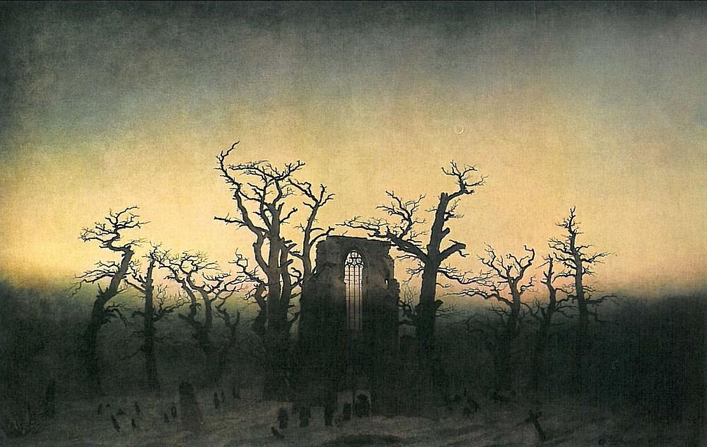 Caspar David Friedrich,   Abtei im Eichwald  (The Abbey in the Oakwood) , 1809-1810.