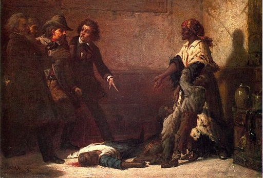 Thomas Satterwhite Noble,   Margaret Garner, or the Modern Medea   (1867). Morrison drew Sethe's story in part from the hotly debated murder case of  Garner , a fugitive slave who killed her daughter rather than let her be taken back into slavery.