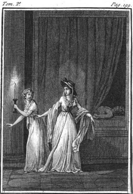 Frontispiece  to the French translation of  The Mysteries of Udolpho  (1798)