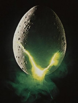 Detail from  Alien 's  theatrical poster  (1979)