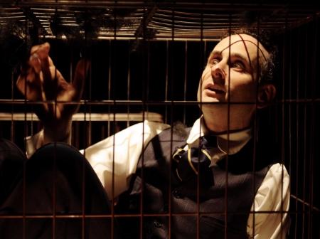 "Alon Nashman in JW3's ""Kafka & Son."" (Publicity still via  stagereview.co.uk )"