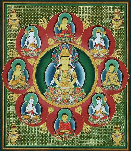 Buddha Vairochana, Mandala (Japan) Public domain.