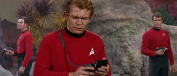 Ah red, the color of alien fodder. Photo Credit:  Star Trek ( 1969).