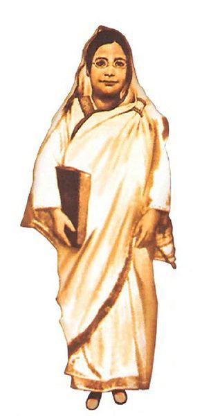 """Bengali writer and social activist Rokheya Shekhawat Hossain, popularly """"Begum Rokeya"""" (1931)."""