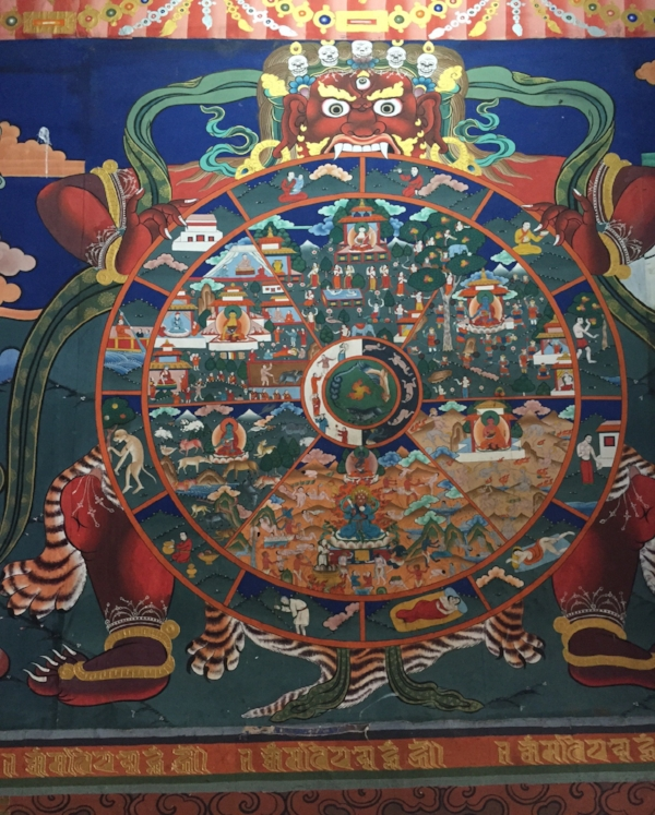 Mural of the Wheel of Life. (Photo by author, 2016)