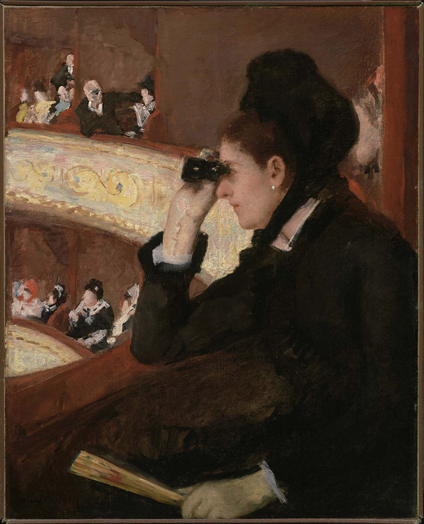 """""""In the Loge"""" by Mary Cassatt. Photo Credit: www.mfa.org"""