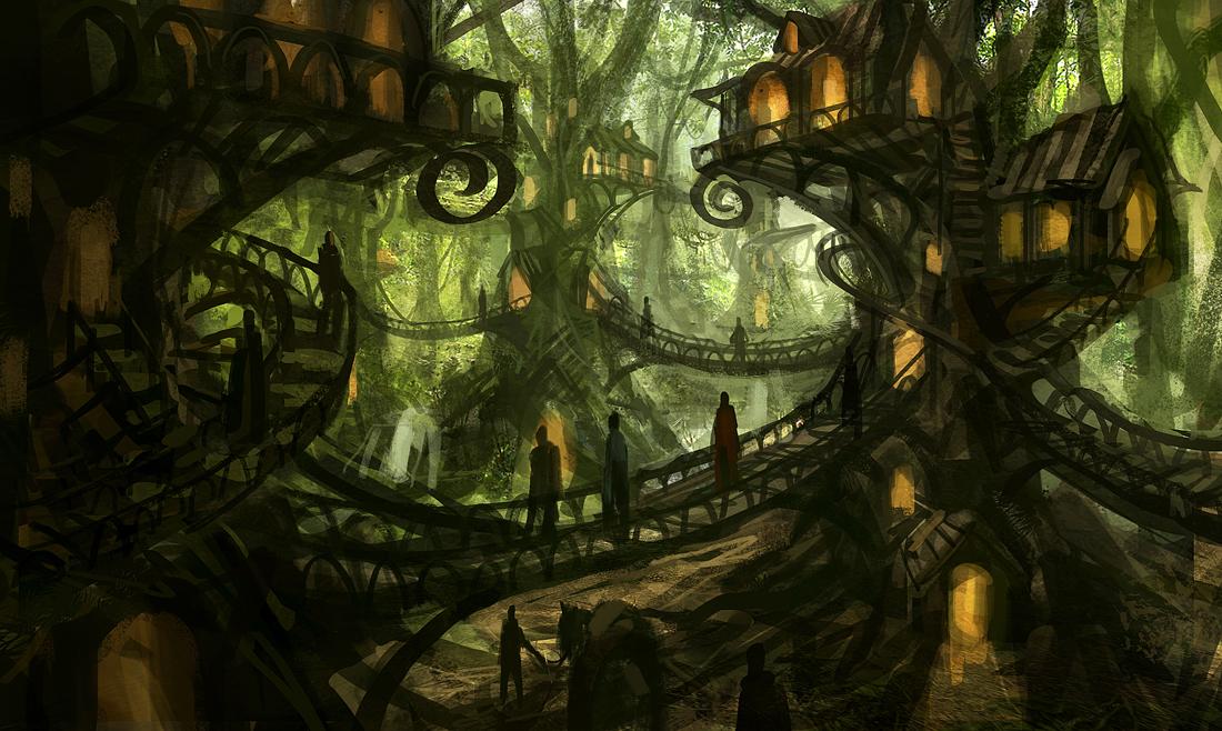 Tree Village by  eddie-mendoza  on Deviant Art