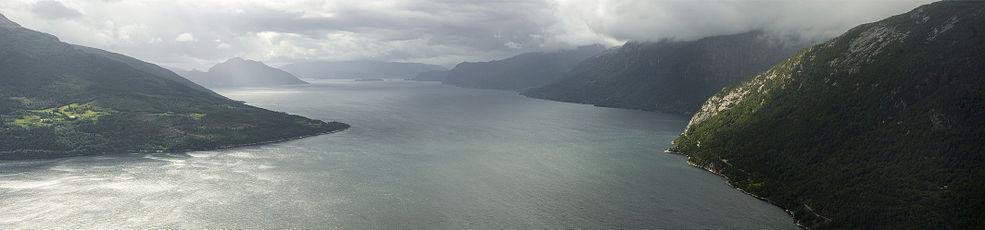 Hardangerfjord in Hordaland, Norway