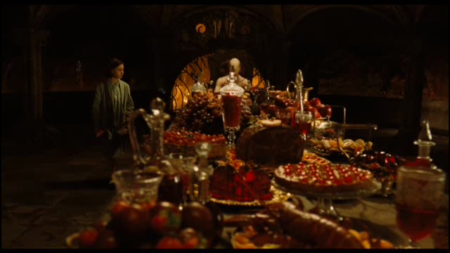 The Pale Man at the head of a tempting feast in Del Toro's  Pan's Labyrinth.