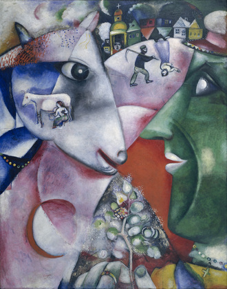 Marc Chagall, 1911,   I and the Village  , oil on canvas, 192.1 × 151.4 cm,  Museum of Modern Art , New York.