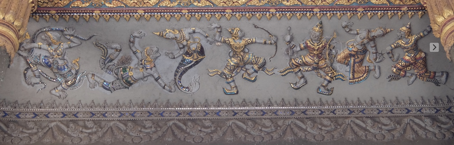 There's Hanuman, taking a breather from searching for Sita and wooing a lovely mermaid.