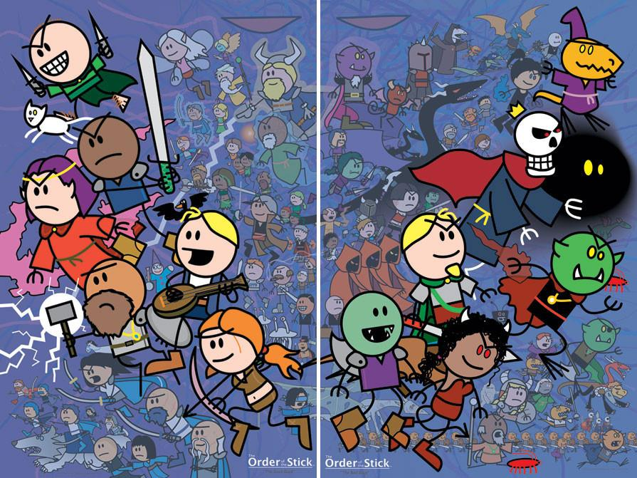 Don't be fooled by the simplicity of the artwork—the heroes and villains in  The Order of the Stick  are richly drawn (pun intended), complex, and full of surprises.