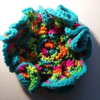 """Vonda McIntyre,  who founded Clarion West, made a  hyperbolic """"sea creature""""  each year for every student. They look cool, and are great for worrying through your fingers to relieve tension. Vonda passed away in April of this year, but not before she made sure every 2019 student would have one of her lovingly made creations. She is greatly missed."""