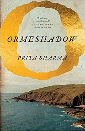 "Ormeshadow  book cover. Image description: a golden ""O"" floats above the a photograph of seaside cliffs. Cover Design by  Henry Sene Yee . Photo from Shutterstock.com."