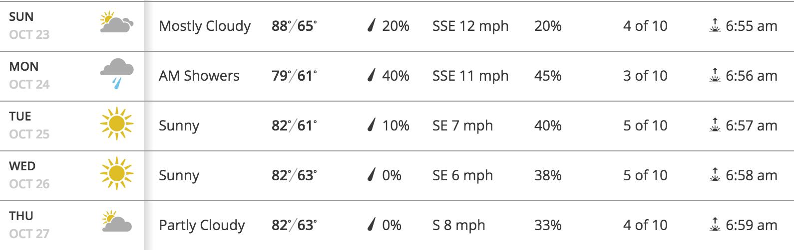 Vegas Forecast