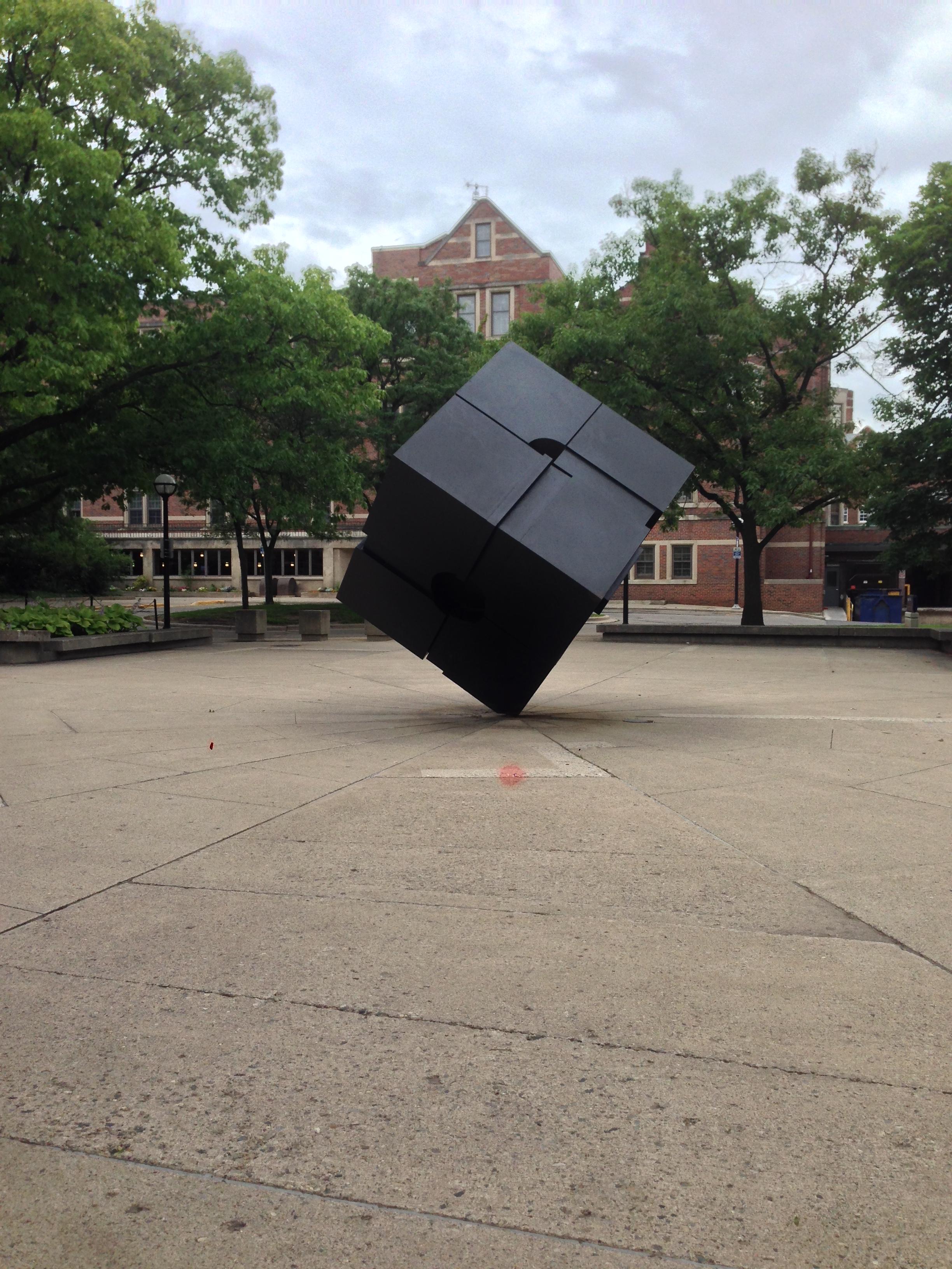 michigan's cube.. It spins!