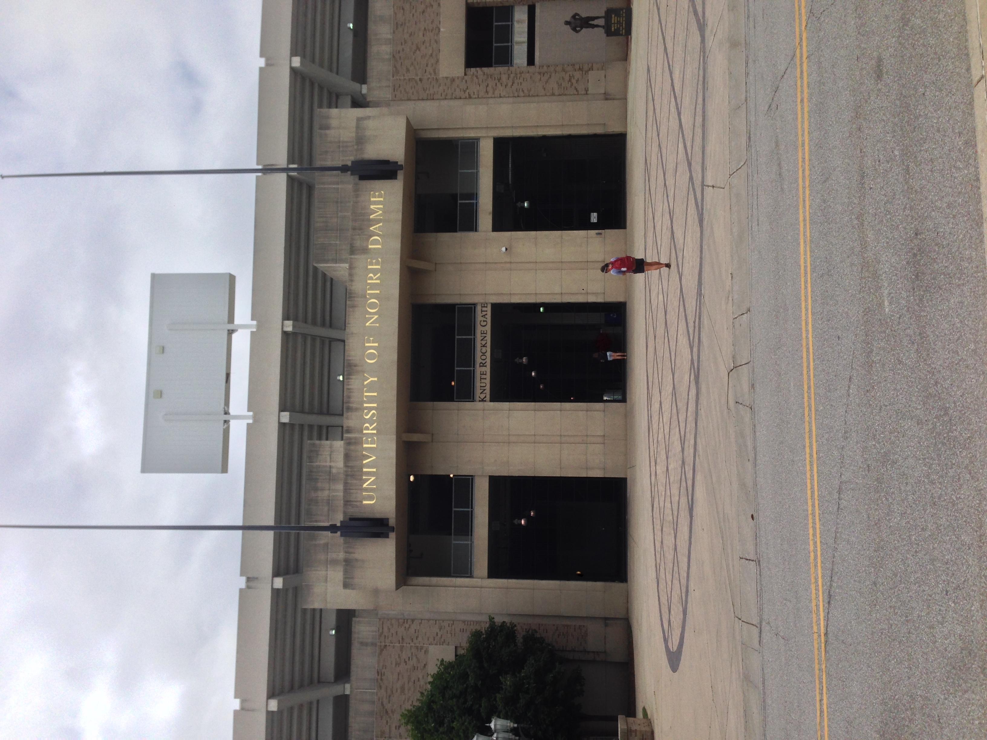Notre Dame's stadium is on campus
