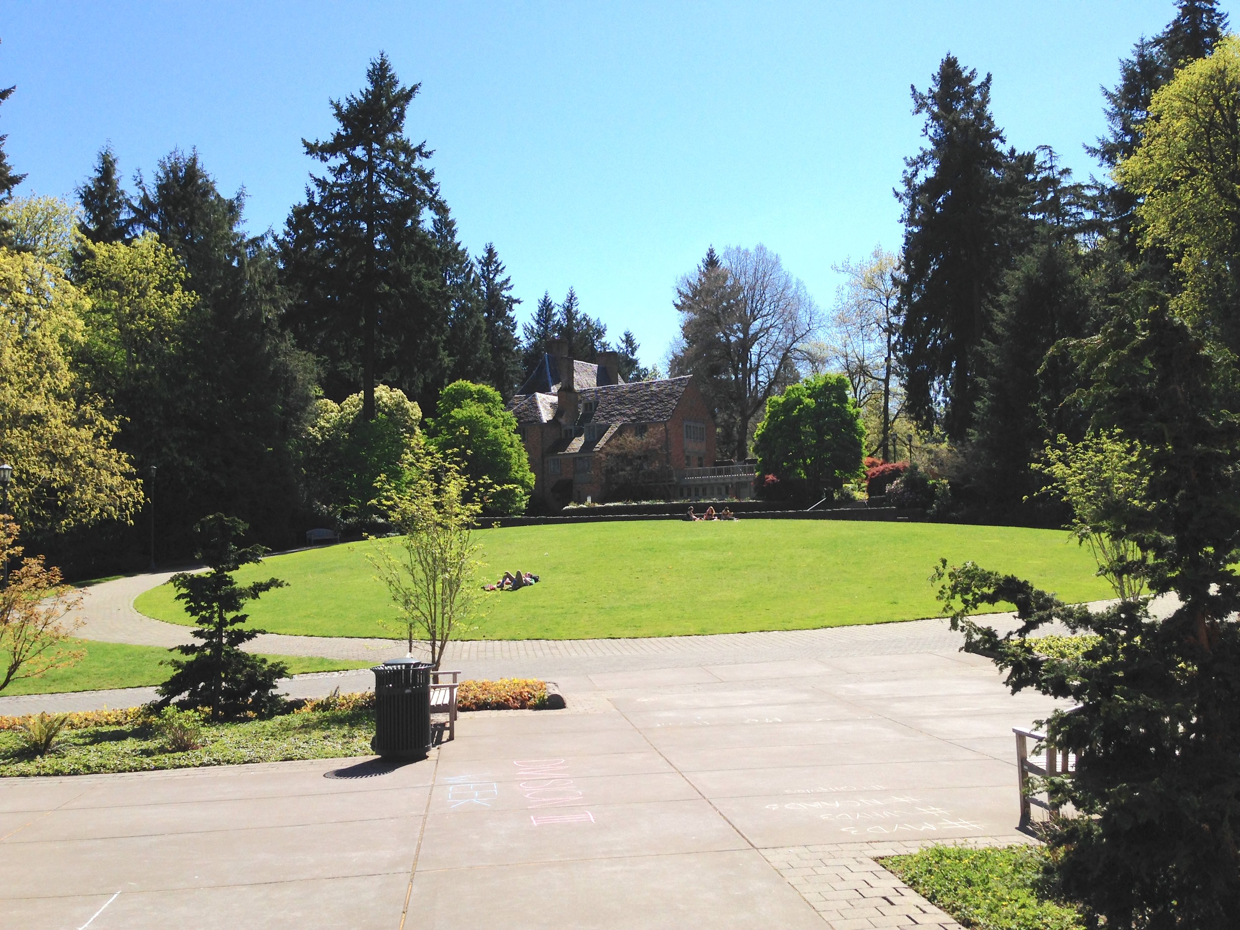 Lewis & Clark—grounds and president's house