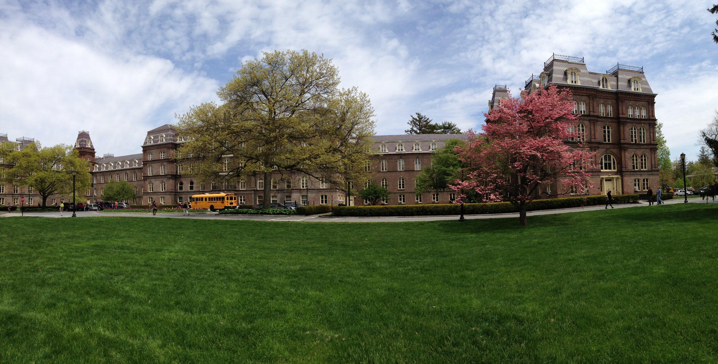 """vassar—""""main"""", 1st building on campus"""