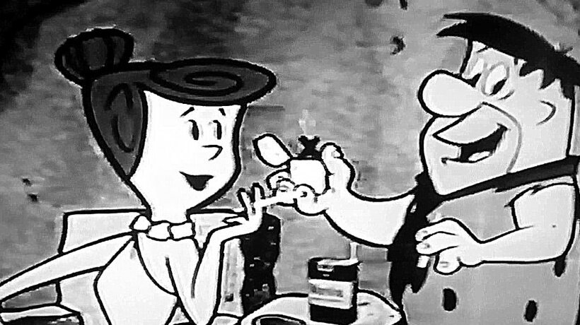 51: The Flinstones was originally aimed at adults and sponsored by Winston cigarettes, and everybody smoked. It was also the first tv show to show a married couple sharing the same bed on TV.  https://www.youtube.com/watch?v=XNtk1dirZvI