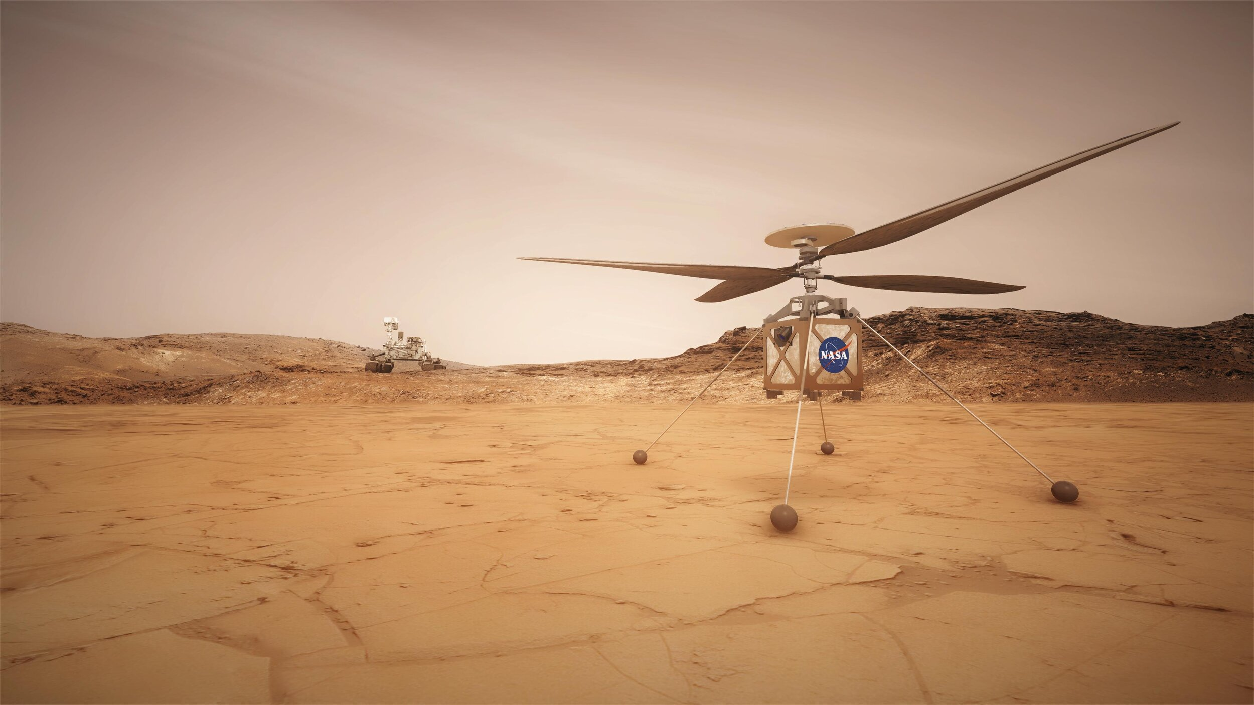 63: There is a Mars Helicopter, the first powered flying device being sent to another planet, in a lab in Pasadena. Flying it on Mars will be like flying a helicopter at 100,000 feet on Earth. 40,000 feet is the record for a helicopter flight on Earth.  https://www.youtube.com/watch?v=GhsZUZmJvaM