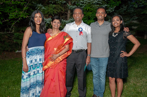 A very happy Sathya poses with his family. If was obvious in his words and actions how proud he is of everyone!