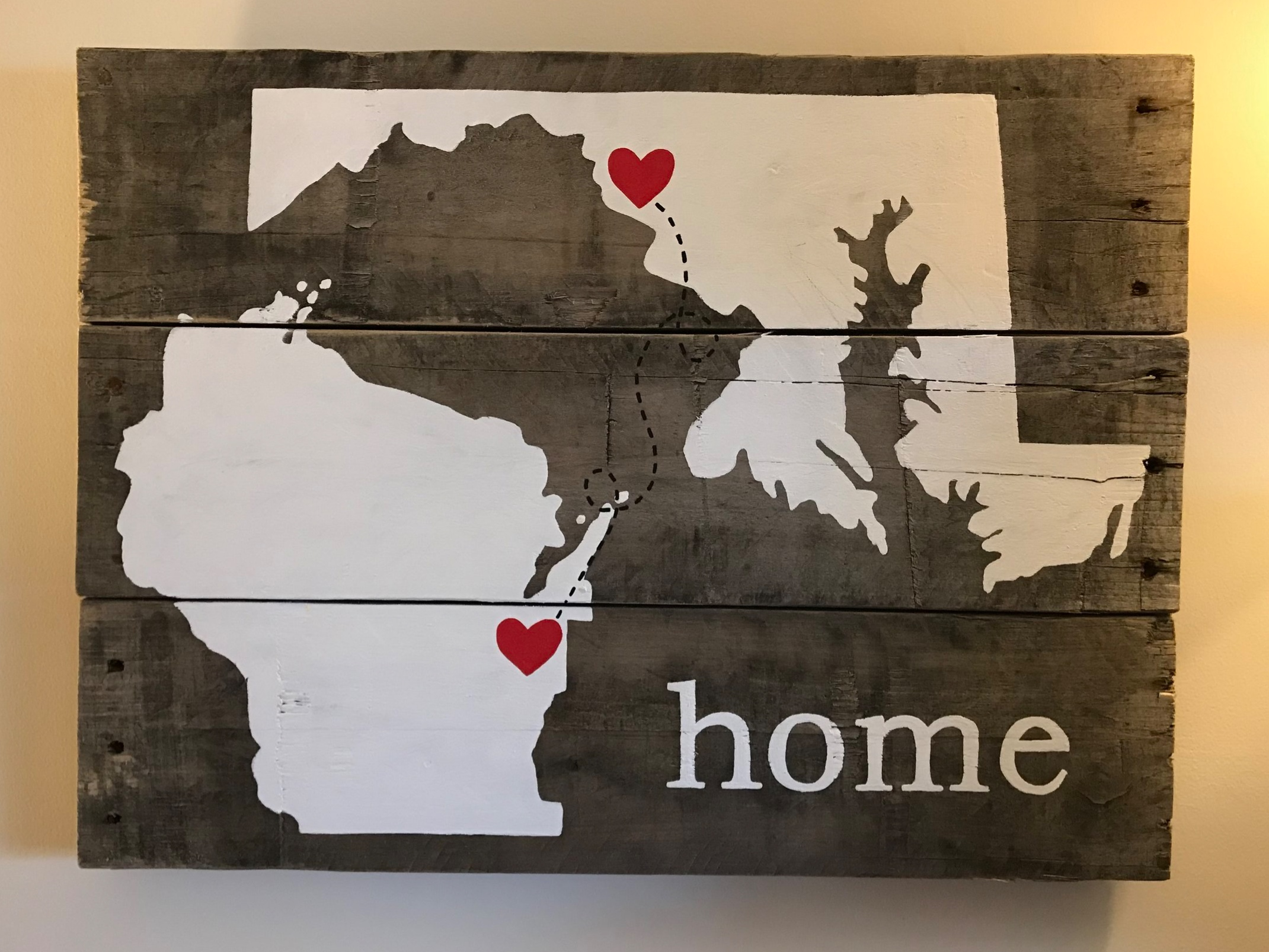 From our old home to our new home, Wisconsin!