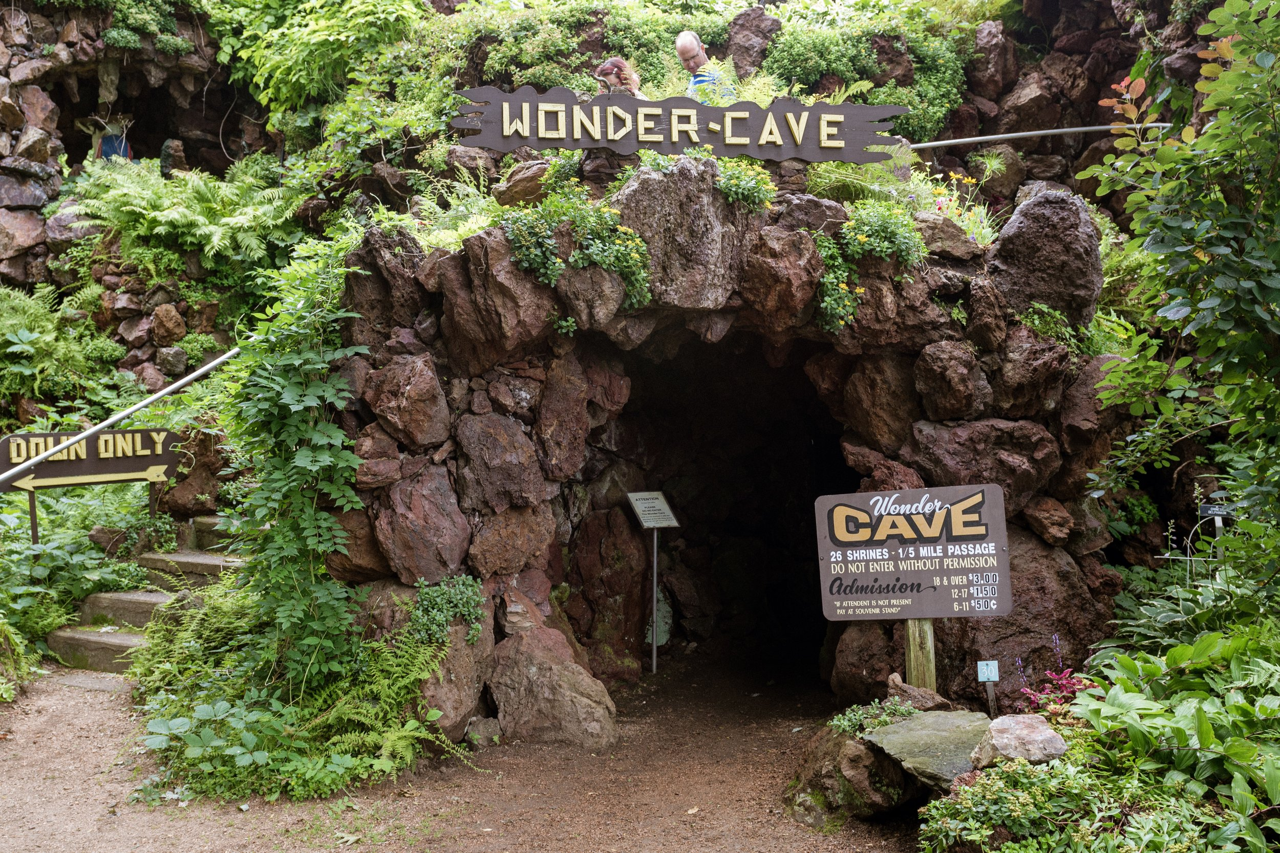Over a fifth of a mile long, the Wonder Cave was completely built by hand.