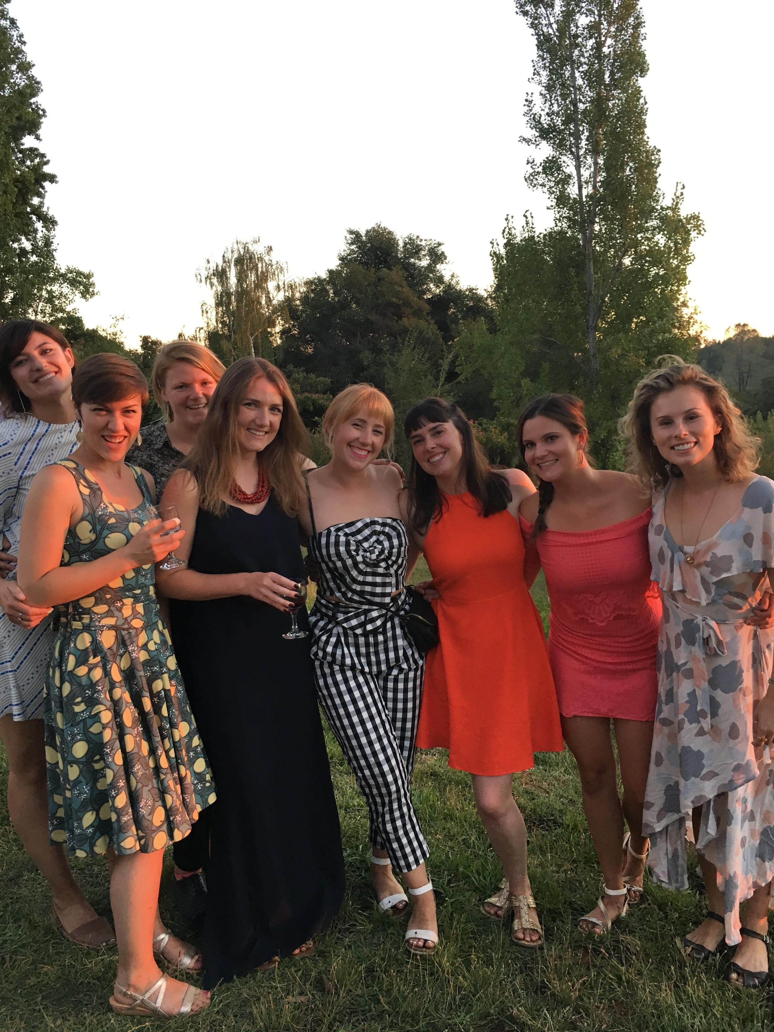 Amazing ladies I've been lucky enough to know since middle school all gussied up for our friend's wedding