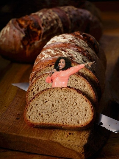 I thought I was bread's biggest fan until I saw Oprah's  proclamation of LUV .
