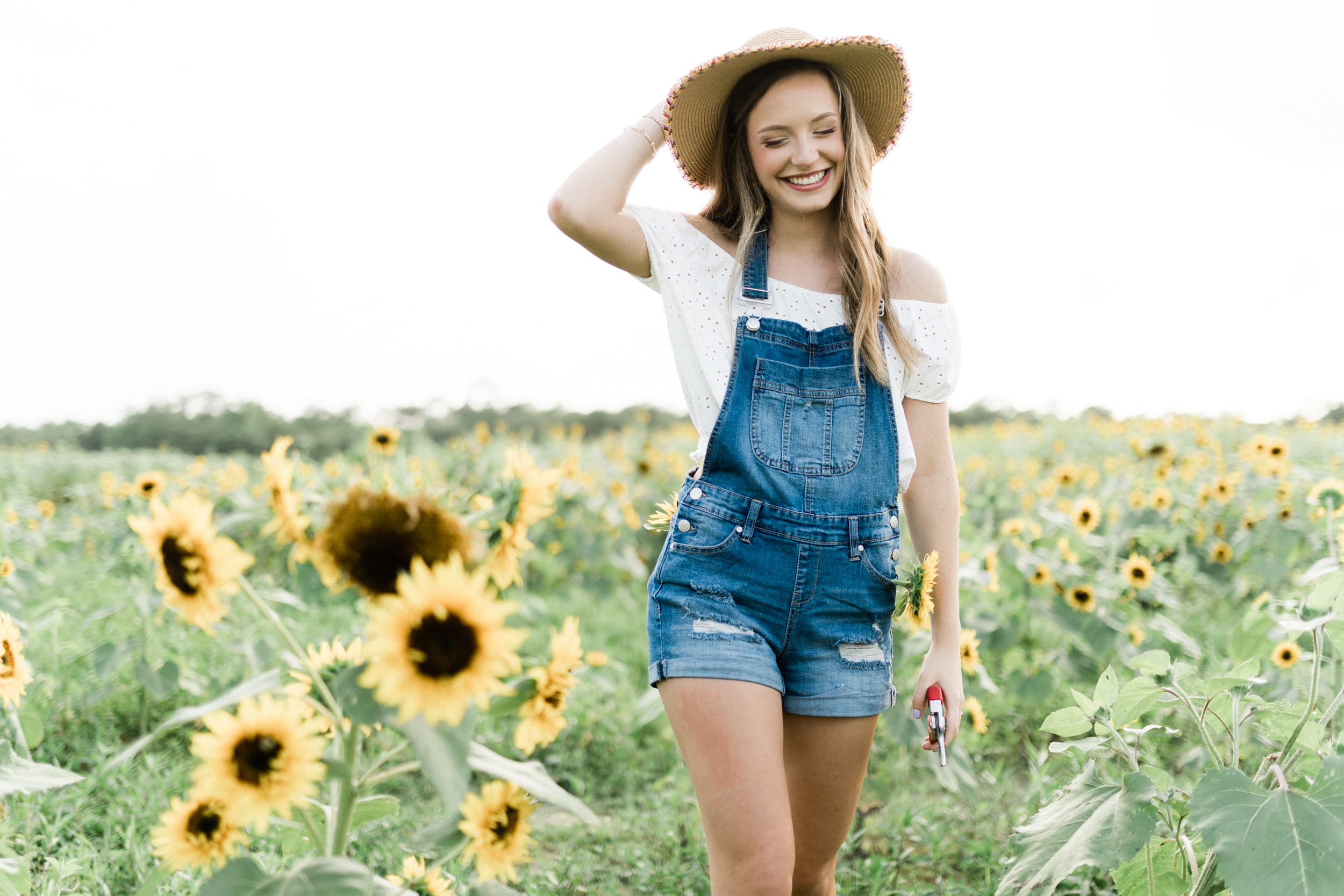 Louisiana Senior Portrait Photography - Oak Forest Academy - Coastal Ridge Sunflower Farm