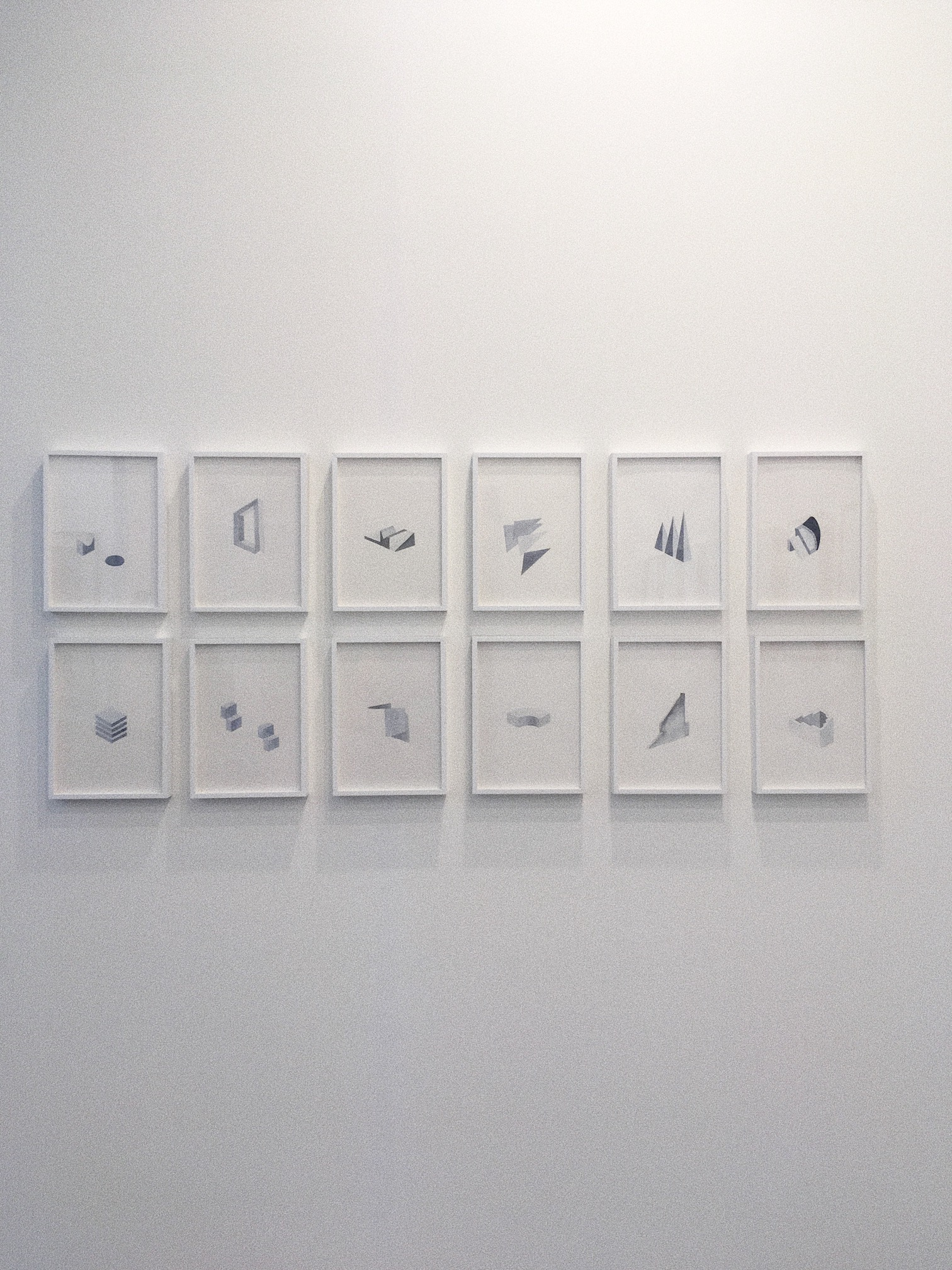 Installation view of drawings by Ayesha Sultana at Experimenter booth, India Art Fair 2018