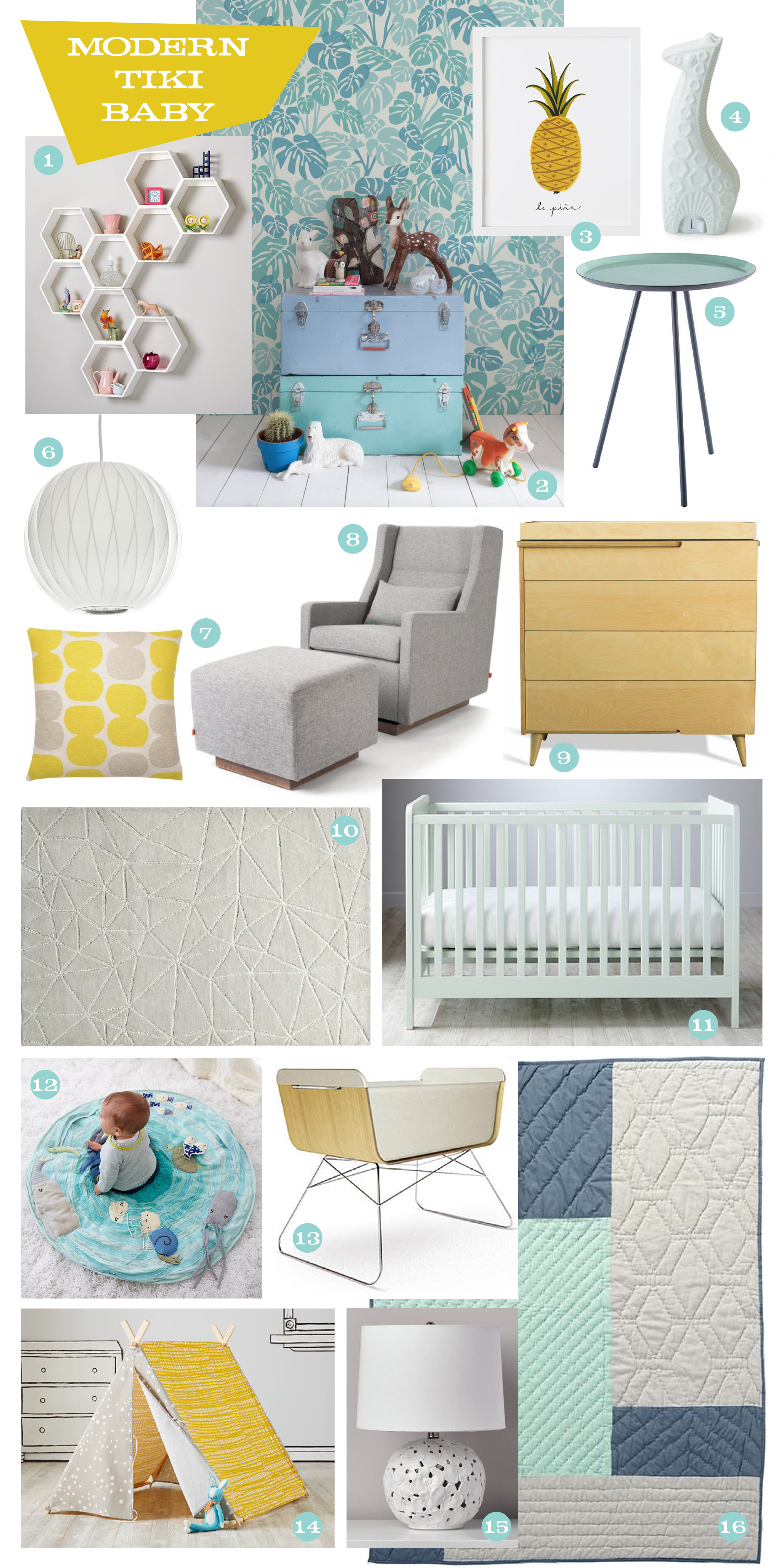16 Must-Have Nursery Items for the Modern Tiki Baby — Modern Tiki