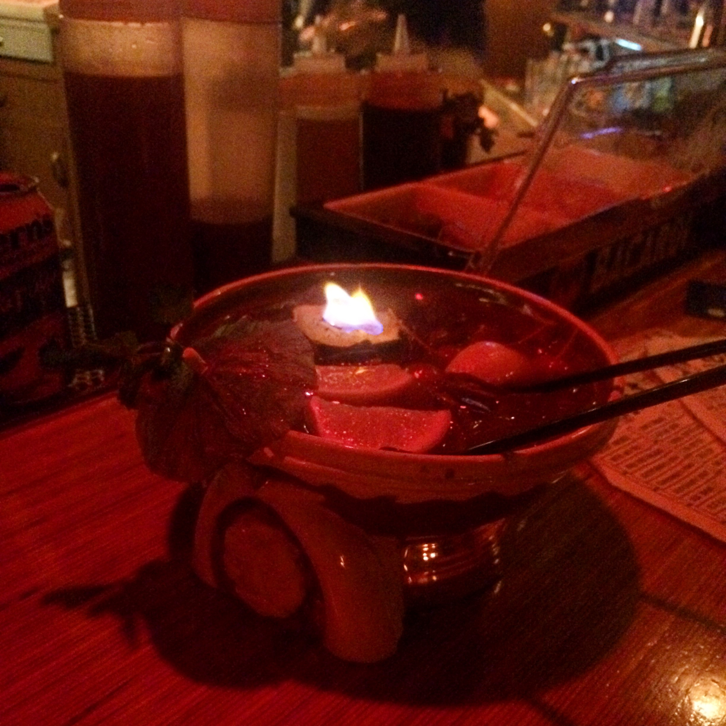 """boo loo     """"fruity but a little off"""" [note: not usually served flaming]"""
