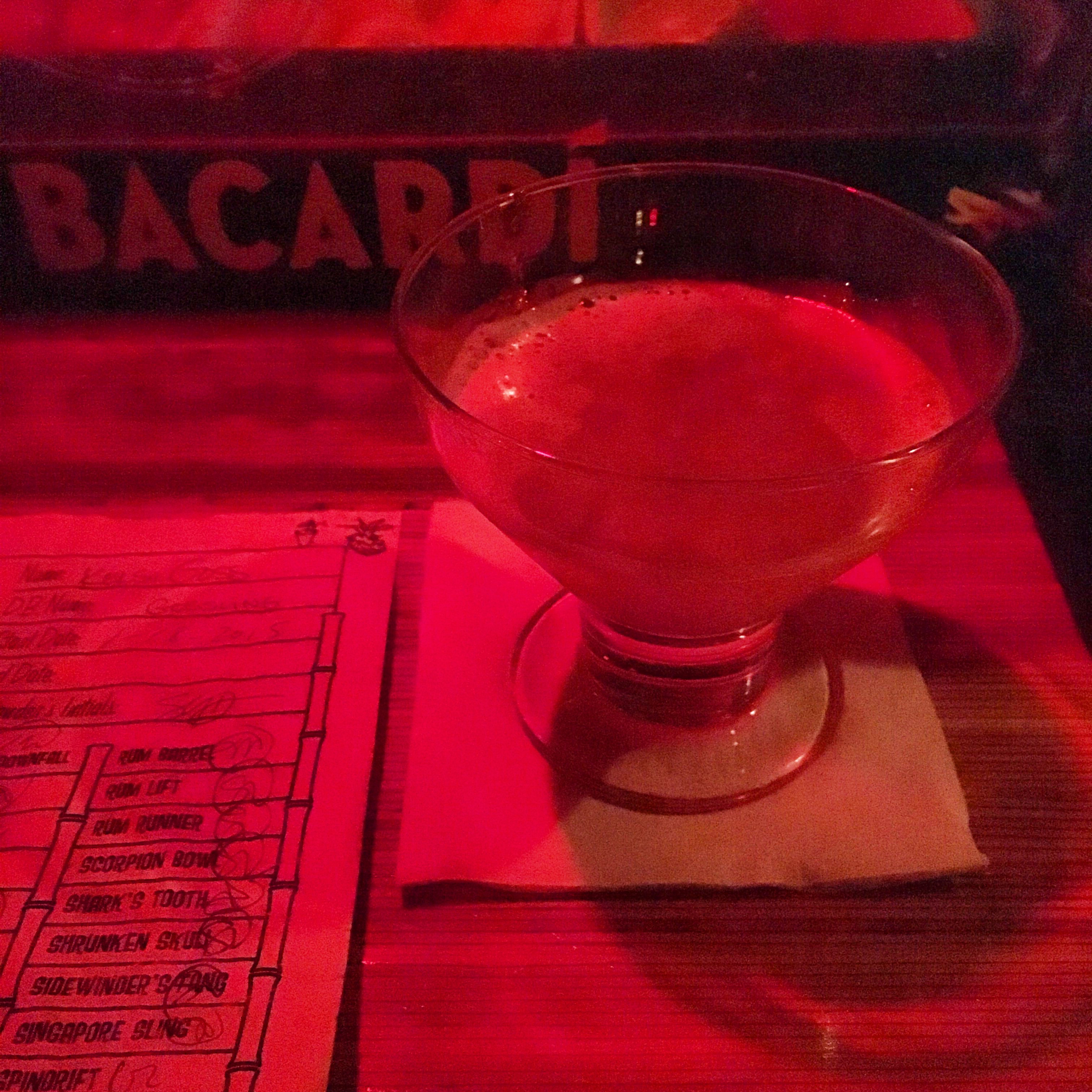 """gone the beachcomber  """"the passion fruit nicely cancels the maraschino"""""""