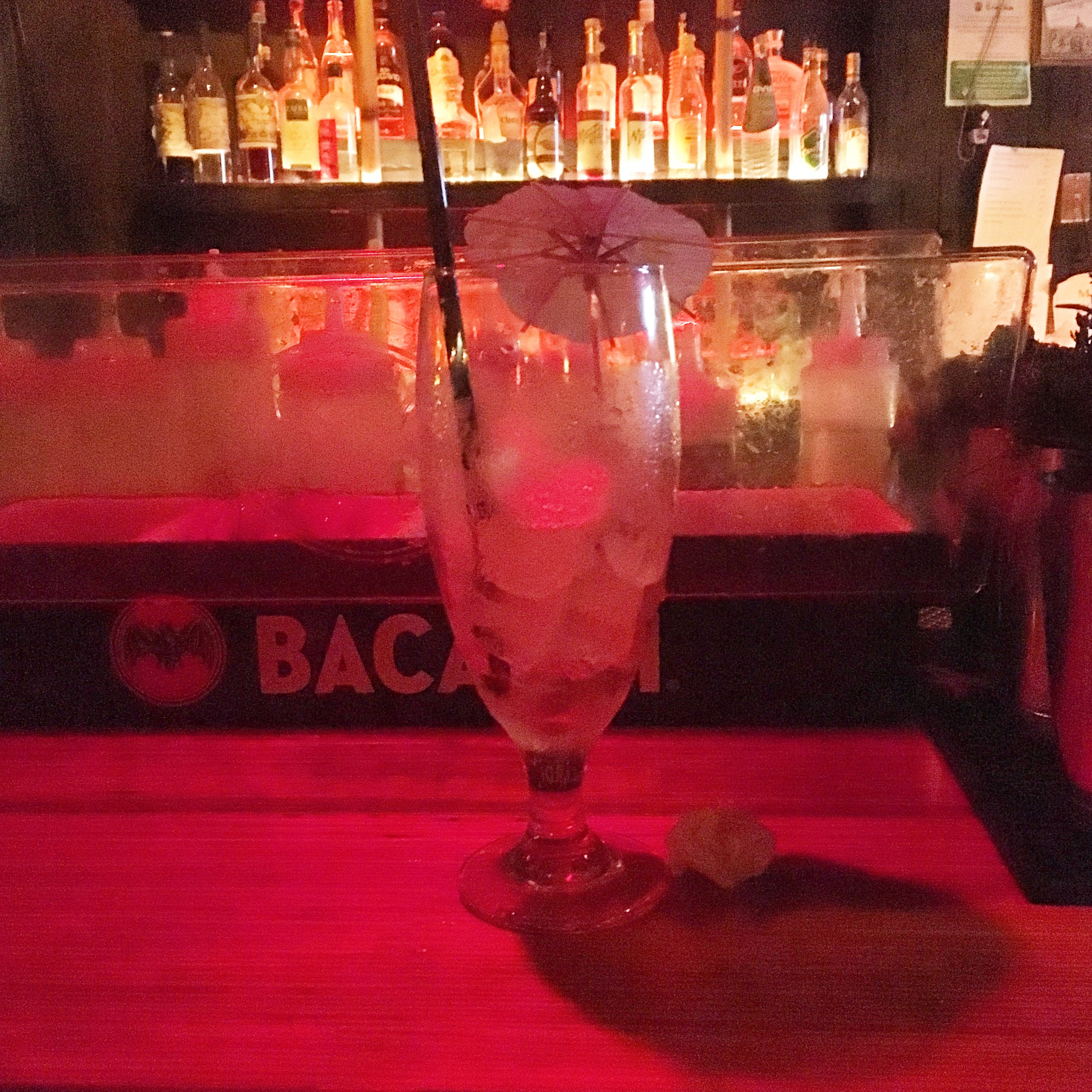 """hurricane   """"nicely balanced. sweet but strong."""" [pictured empty because it was our last drink of the grog log!]"""