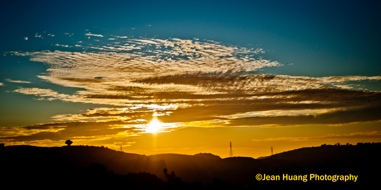 Golden Sunset over Clouds - ©Jean Huang Photography