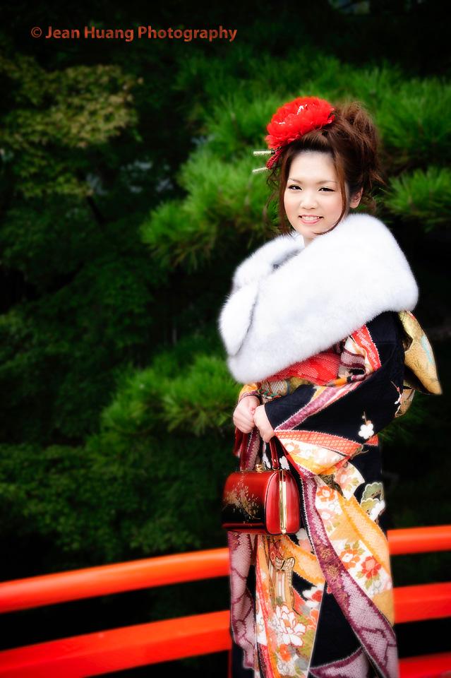 Japanese Girl in Kimono at Ritsurin Park, Takamatsu, Japan - ©Jean Huang Photography