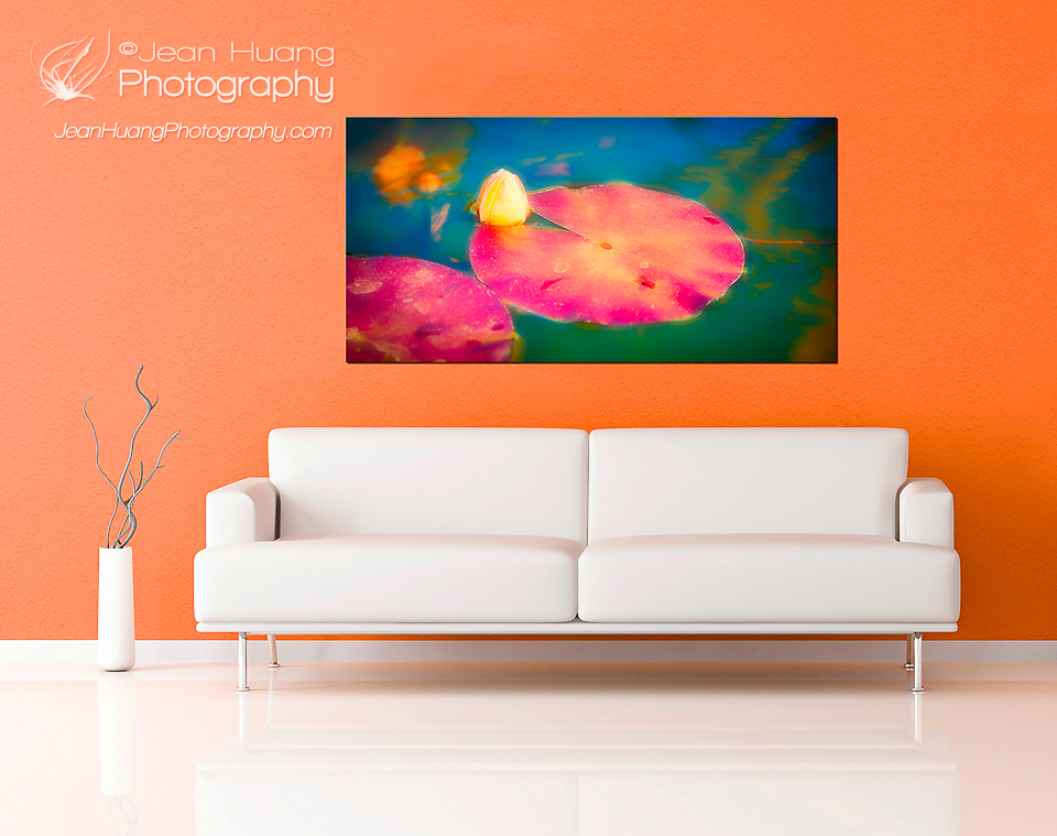 Wall Art Made of Lotus Pond Image from Mission San Juan Capistrano - ©Jean Huang Photography