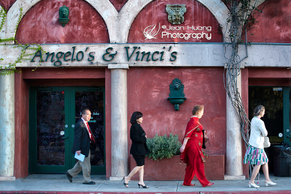 People Marching Down to a Restaurant in Fullerton, California - ©Jean Huang Photography