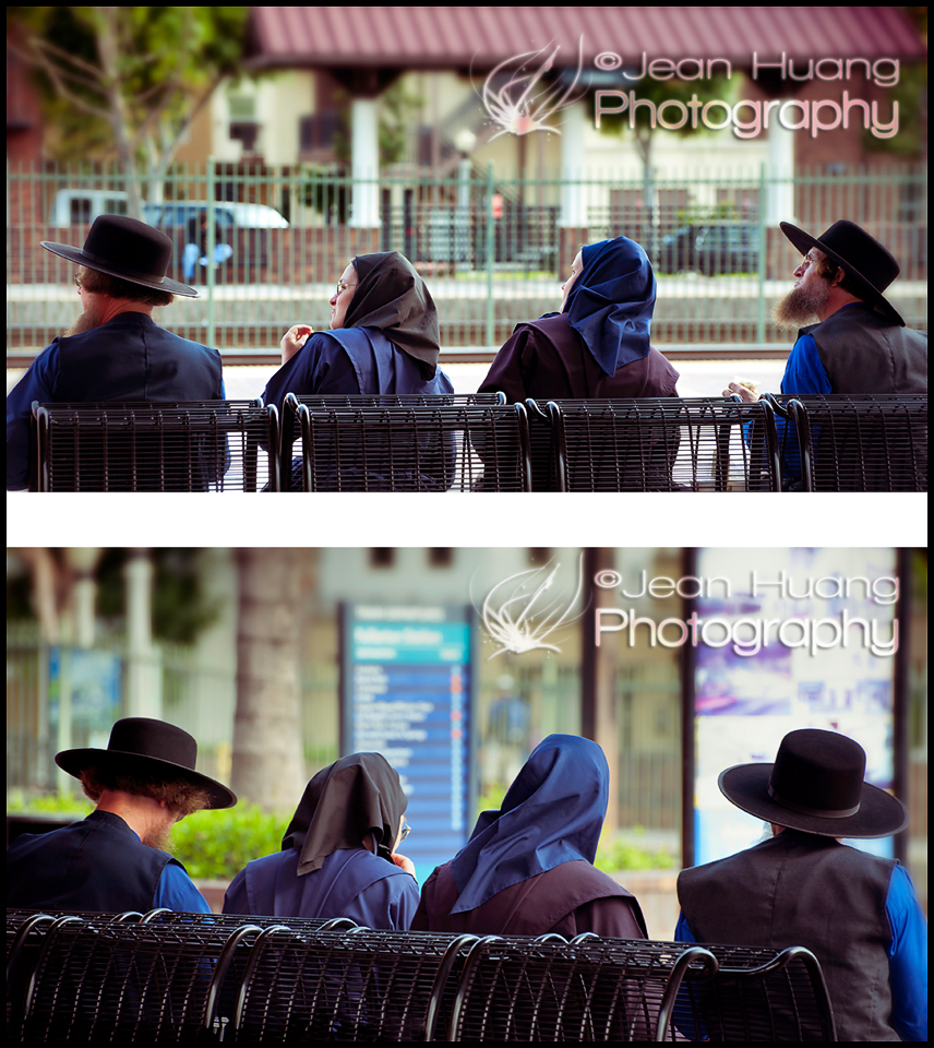 Amish at the Train Station - What are They Looking At? - ©Jean Huang Photography