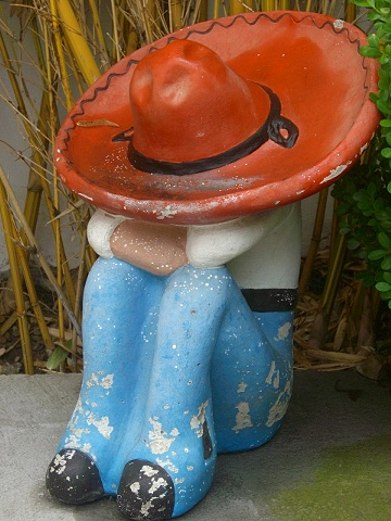 Sleeping Mexican Garden Statue - California Gallery