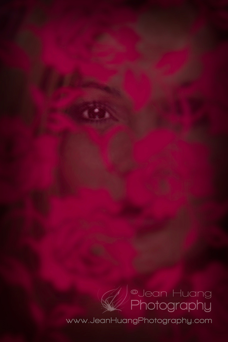 Woman-Through-Red-Lace-©Jean-Huang-Photography